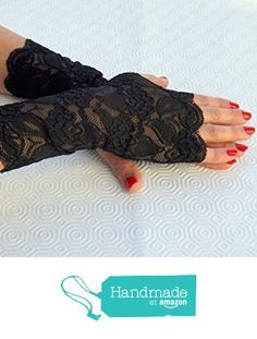 Lace fingerless gloves. Elastic floral lace mittens, Black/ Gold/ Red/ White/ Ivory lace gloves. from Miss Lace Accessories https://www.amazon.com/dp/B01IEM6JUU/ref=hnd_sw_r_pi_dp_4ogmybBVF9JR6 #handmadeatamazon
