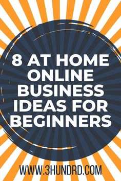 "I've started making money online about 7 years ago and although it was fairly easy to do back then, it sure is much, much easier now.   With that said, today I want to share with you some ""at home"" online business ideas that you can start easily from the comfort of your home, and yes;You can even get started today if you wish."