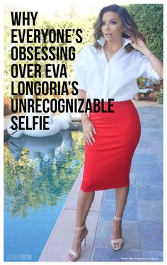 Everyone is obsessing over Eva Longoria's unrecognizable selfie.. it proves celebrities are just like us