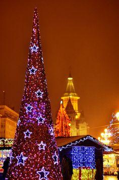 Christmas in Victoria Square, Timisoara, Romania