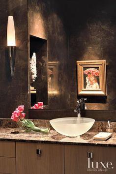 Chocolate Contemporary Bathroom