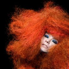 """The Peculiar Genius of Bjork A portrait of Bjork photographed by Inez and Vinoodh in 2011 for """"Biophilia"""" — just one of artist's many shifting personae represented in this slideshow. The 20-year career of the polymath musician is the subject of a major retrospective at MoMA in March. Inez and Vinoodh"""