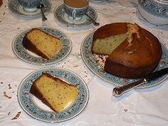 Seed Cake from the Food of the Shire blog - recipes for a proper Hobbit menu.    I would make this with poppy seeds cause I don't care for caraway.