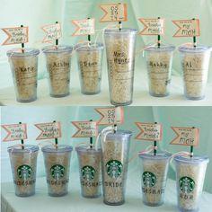 will you be my bridesmaids? bridesmaids gift! starbucks bride. @Starbucks Loves