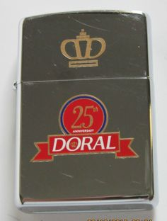 1995 Zippo Lighter Doral Cigarettes Never Lit Very Nice Cond