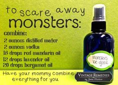 From Vintage Remedies. This calming and stress-relieving spray is perfect for a Monster Spray, Vodka Mixes, Essential Oils For Kids, Herbal Oil, How To Relieve Stress, Aromatherapy, Herbalism, Bump, Calming