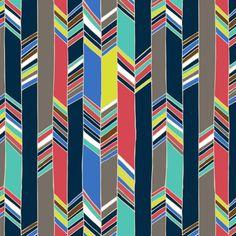 Feather chevron fabric by chulabird on Spoonflower - custom fabric