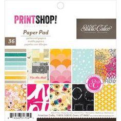 Printshop Paper Pad 6x6 36 Sheets