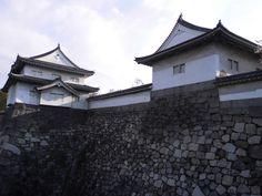 大阪城 櫓2つ 2014.04