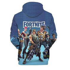 c40275eaf988 Mcgreen Fortnite 3D Printing Unisex Hoodie Novelty Youth Game Sweatshirt  Fortnite Heroes Pullover    Click