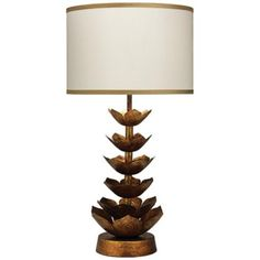 Jamie Young Flowering Lotus Antique Gold Table Lamp - #5H730 | LampsPlus.com