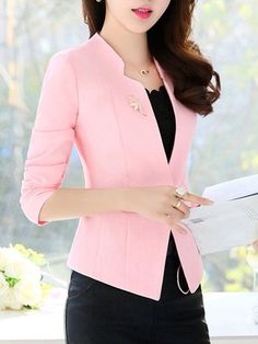 Stylish Job Work Outfit Ideas to Look Attractive Blazer Outfits Casual, Blazer Fashion, Fashion Wear, Classy Outfits, Fashion Dresses, Dress Outfits, Fashion Clothes, Womens Fashion, Mode Chic
