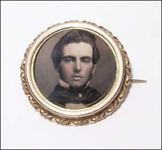 The Handsomest Man in A Daguerreotype Locket Pin I've Ever Seen | eBay