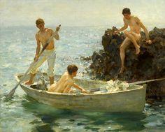 Venus Painting, Sun Painting, Figure Painting, Art Gay, Queer Art, Art Of Man, Classic Paintings, Classical Art, Art Reproductions
