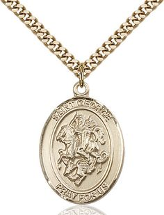 St. George Pendant (Gold Filled) by Bliss | Catholic Shopping .com