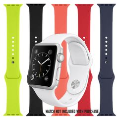 Apple Watch Sport Band - 42mm, Stainless Steel Pin  $49.00 $17.49 (You save $31.51)  Orders Processed in 1 Business Day!  Available in 5 different colors!
