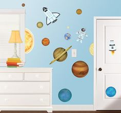 In Outer Space Wall Decal Set - http://www.theboysdepot.com/in-outer-space-wall-decal-set.html