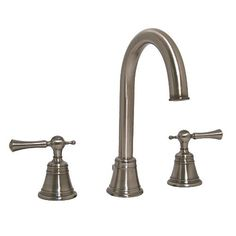 Jado 842_813_444 Hatteras Widespread Bathroom Sink Faucet, Antique Nickel. The Hatteras collection from Jado is inspired by the spirit of the Americas most famous seashore and lighthouses. Traditional, yet still contemporary, the Hatteras from Jado sets itself apart from ordinary bathroom plum.. . See More Bathroom Sink Faucets at http://www.ourgreatshop.com/Bathroom-Sink-Faucets-C223.aspx
