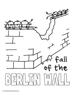 World History Coloring Pages Printables Fall of the Berlin Wall