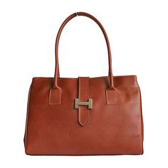 H-Lock Italian Brown Leather Shoulder Bag - Down to £49.99 from £59.99
