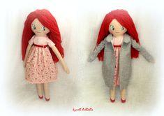 Porfyrenia - Πορφυρένια Doll for Play - by Kymeli Soft Dolls, Doll Clothes, Disney Characters, Fictional Characters, Play, Disney Princess, Handmade, Art, Art Background