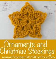 These crochet Christmas stockings and Christmas ornaments are beautiful! #crochetchristmas #crochetchristmasstockings #crochetchristmasornaments #crochetornaments #crochetstocking #christmasinjuly
