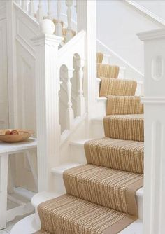 Pinittransformit White And Beige Stairs Add Earthy Textures To The Ambiance Best Carpet
