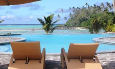Luxury Beachfront Accommodation on Muri Beach Rarotonga Cook Islands Daily Breakfast Private Beach Full Spa Service No Booking Fees Rarotonga Cook Islands, Stone Supplier, Plunge Pool, Spa Services, Nautilus, Auckland, Sun Lounger, Relax, Patio