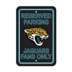 e6b45ed5b Jacksonville Jaguars Plastic Parking Sign - Reserved Parking