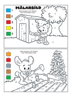 Siffror – Bamse.se Educational Activities For Kids, Teaching Activities, Classroom Activities, Kids Learning, Learn Swedish, Color By Numbers, Learning Numbers, Math For Kids, Colouring Pages