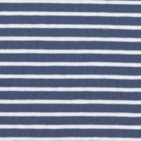 Tissu jersey Hilco Campan coloris Bleu et Neige, Oeko Tex (x 25 cm)