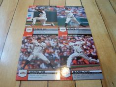 DAVE ROBERTS BARRY ZITO JONATHAN SANCHEZ 2008 UD Documentary Giants (4) Card Lot