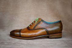 Dominique Saint Paul | Dominique Saint Paul half brogue shoes, made to order, hand coloured