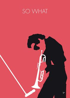 "No082 MY Miles Davis Minimal Music poster by Chungkong.nl ""So What"" is the first track on the 1959 album Kind of Blue by American trumpeter Miles Davis. TAGS: Miles, Davis, So, What, Kind, of, Blue, trumpeter, jazz, chord, John, Coltrane, 1959, minimal, minimalism, minimalist, poster, artwork, alternative, graphic, design, idea, chungkong, simple, cult, fan, art, print, retro, icon, style, gift, room, wall, classic, time, best, quote, song, music, inspiration, rock, guitar, star, artist,"