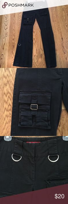 Black pants Wry cool black pants with silver details and random pockets Pants