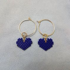 #miyuki #miyukikalpkupeler - #miyuki #miyukikalpkupeler Diy Seed Bead Earrings, Beaded Earrings, Beaded Jewelry, Heart Earrings, Cute Jewelry, Jewelry Shop, Jewelry Crafts, Loom Bracelet Patterns, Bead Loom Bracelets