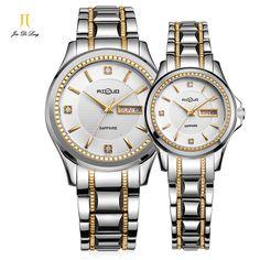 US $150.79 - Brand Ailuo 1 Pair Fashion Luxury Lovers' Watch Men&Women Quartz Wristwatch Waterproof 50M Stainless Steel Business Watches