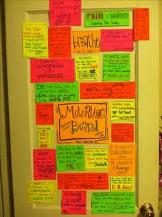 Made my own motivation wall!! Love.