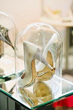 A Cinderella Wedding - Wedding Shoes.  | Read more:    http://simpleweddingstuff.blogspot.com/2015/03/a-cinderella-wedding.html