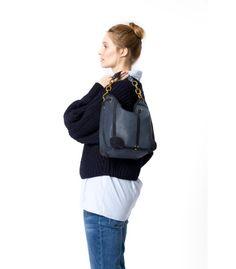 Tanguy veau marine matt - 5 Jerome Dreyfuss, Sling Backpack, Backpacks, Boutique, Bags, Fashion, Daughter, Leather, Handbags