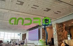 Android sign begins to take its place at Google #io13 this week. For more search in pics, visit:  http://selnd.com/Z2jUwZ
