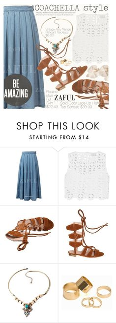 """Coachella Style"" by pokadoll ❤ liked on Polyvore featuring Miguelina, Pieces and vintage"