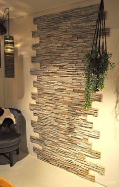 Stone Wall Design, Niche Design, Tv Wall Design, House Design, Diy Wall Decor For Bedroom, Living Room Decor Cozy, Craftsman Home Decor, Stacked Stone Walls, Black Bedroom Design