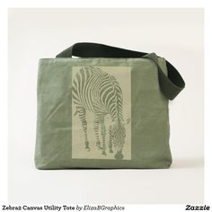 This is not a plastic bag!   #tote #bag #custom #canvas #zebra #africa