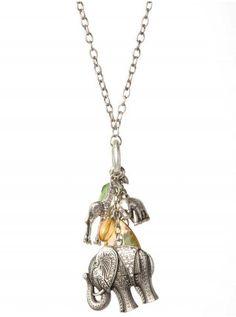 Elephant Charm Necklace- Vanity