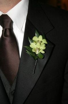 Black tux with brown vest and tie. | My Wedding Style | Pinterest ...