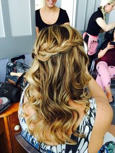 One of our bridesmaids Hair (and makeup WHAM Artists) http://weddinghairandmakeupartists.com/