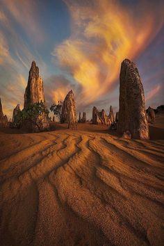 The Pinnacles Desert, Nambung National Park, Western Australia, Australia. 162 km NW of Perth Australia Perth Western Australia, Australia Travel, Coast Australia, Queensland Australia, Pinnacles Desert, Nambung National Park, Landscape Photography, Nature Photography, Photography Tips