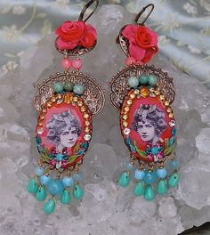 Lilygrace Coral and Turquoise Show Girl by LilygraceOriginals, $60.00