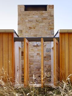 *Q: What is this exterior wood and does it need to be treated and/or stained? I LOVE the nailing details on the wood.  Q: What is this stone? I love it!!!!  Could be a little busy or it could be gorgeous!! I/m thinking this color palette of stone could work well.